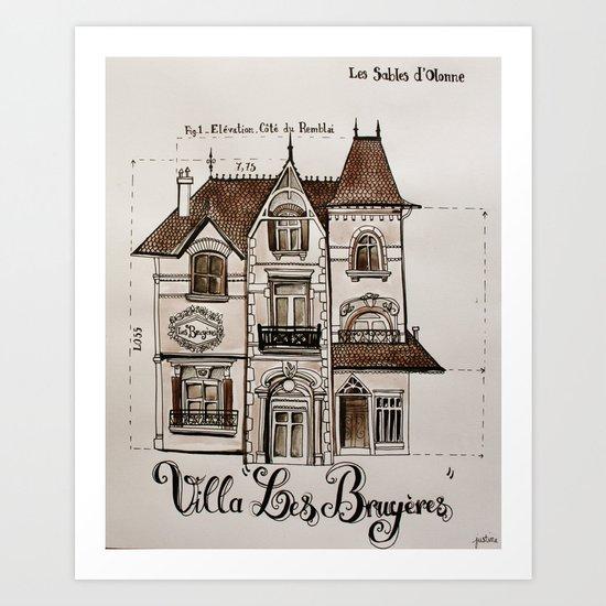 Les Bruyères Art Print