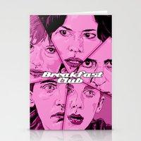 the breakfast club Stationery Cards featuring Breakfast Club by David Amblard