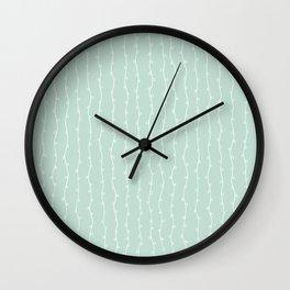 Willow Stripes - Sea Foam Green Wall Clock