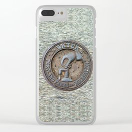 Portland Water Utility cover Clear iPhone Case