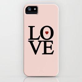 Heart Shaped Maroon Love iPhone Case