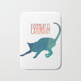 Everyday is Caturday Bath Mat