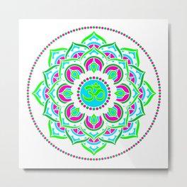 Spring Mandala | Flower Mandhala Metal Print