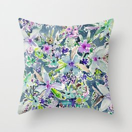 TALIA'S GARDEN Colorful Badass Floral Throw Pillow