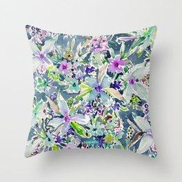 TALIA'S GARDEN Colorful Badass Floral Throw Pillow