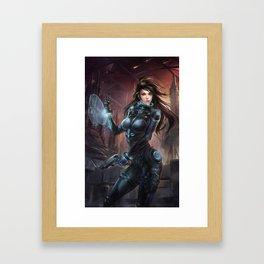 Mars girl ARINA Framed Art Print