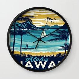 Vintage poster - Hawaii Wall Clock