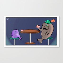 The Manatea party Canvas Print