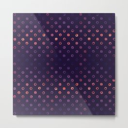 Abstract Gradient Circles on Purple Background Metal Print