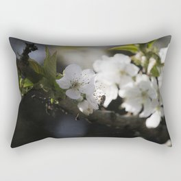 Cherryblossom and the Visitor Rectangular Pillow