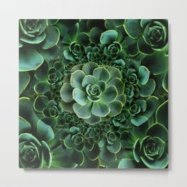 ORNATE JADE & DARK GREEN SUCCULENT  GARDEN Metal Print