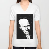 tom waits V-neck T-shirts featuring Tom Waits by Mr Shins