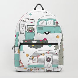 Retro Christmas Campers Backpack