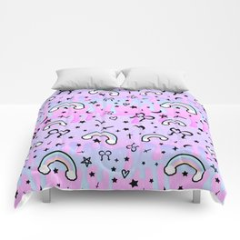 Cute Melting Pastel Chaos Comforters