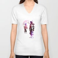 men V-neck T-shirts featuring Space Men by rubbishmonkey