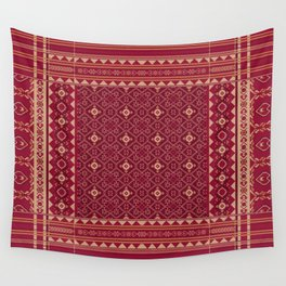 Famous Panels From Heritage Textiles of Indonesia and India Wall Tapestry