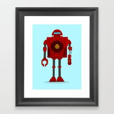 Robo Friend Framed Art Print