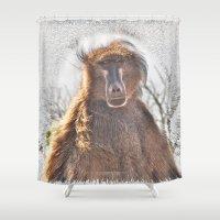 dad Shower Curtains featuring Golden Ancestor Dad by CrismanArt