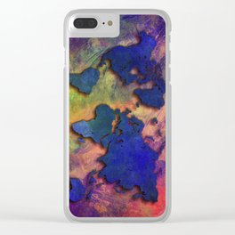 World map special 5 Clear iPhone Case