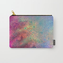 Painting Under UV Spectrum, Unique Blend Of Colors, Original Contemporary Artwork, Copper Carry-All Pouch