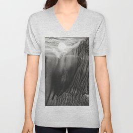Blackwater Park - abstract watercolor monotype Unisex V-Neck