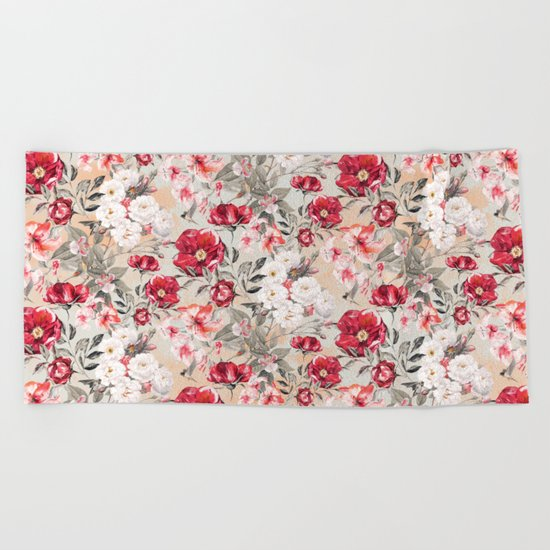 SUMMER GARDEN III Beach Towel