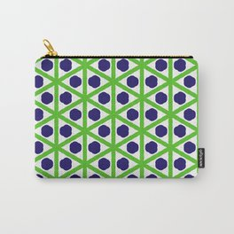 Blue Dots, Green Diamonds Carry-All Pouch
