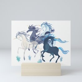 Running Unicorns Mini Art Print