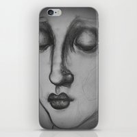 madonna iPhone & iPod Skins featuring The Madonna by Sarah Mary Street