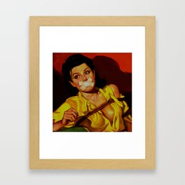 Gagged Framed Art Print