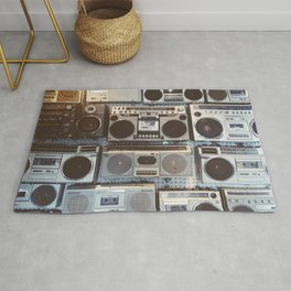 Boom boxes Rug