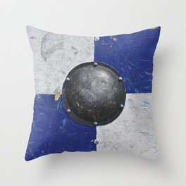 medieval shield texture Throw Pillow