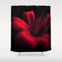 ruby Shower Curtains featuring Ruby by Vitta