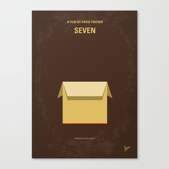 No233 My Seven minimal movie poster Canvas Print