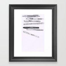 Pen by Pencil Framed Art Print
