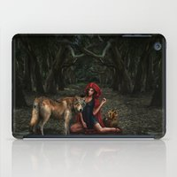 red riding hood iPad Cases featuring Red Riding Hood by Viggart
