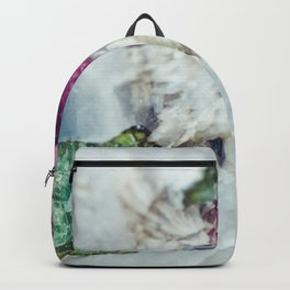 Colorful watermelon tourmaline crystal, macro #society6 Backpack