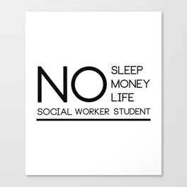 Social Worker Student Gifts For Graduation Social Worker Canvas Print