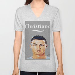 Christiani Ronaldo The best Soccer legend ever Unisex V-Neck