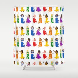 Belly Dancers - Rainbow Colors Shower Curtain