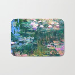 water lilies : Monet Bath Mat