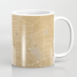 Vintage map of Baton Rouge Louisiana in sepia Coffee Mug