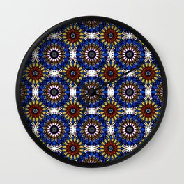 The Damascus pattern . Wall Clock