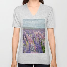 flower photography by Delphine Ducaruge Unisex V-Neck
