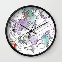 Multiverse Map #2 Wall Clock