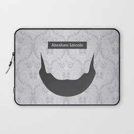 Abraham Lincoln (Famous mustaches and beards) Laptop Sleeve
