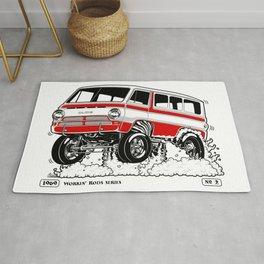 1969 GASSER VAN – Rev 2 RED Rug