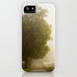 Foggy Scenic Byway iPhone Case