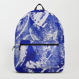 Hearts in blue and white Backpack