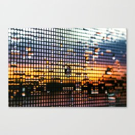 Dewdrop Sunset Canvas Print